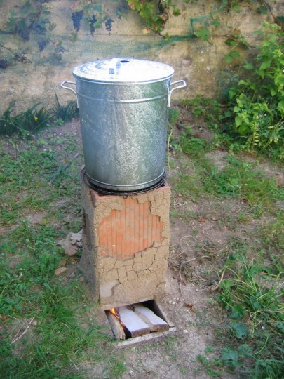 Rocket stove barbecue - Stérilisation