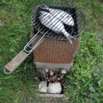 Rocket stove barbecue